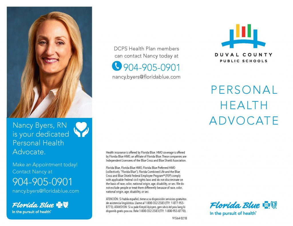 Open the DCPS Personal Health Advocate Brochure